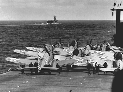 [Enterprise and Hornet Approach Japan - April 1942]